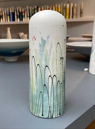Domed vase. Monoprint