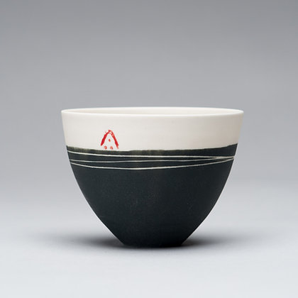 Small cup/bowl. Charcoal