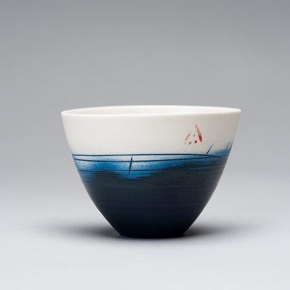 Small cup/bowl. Indigo