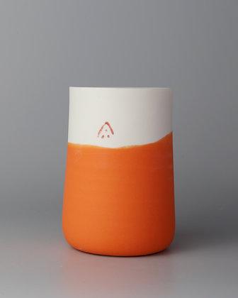 Tall cup. Orange