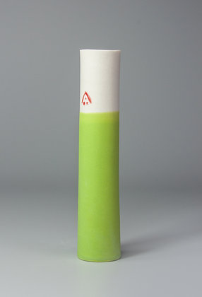 Stem vase. Lime green
