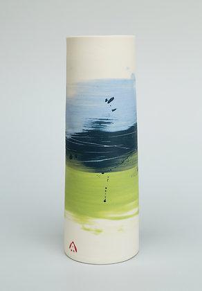 Cylinder vase. Pansy