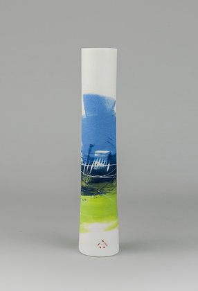 Stem vase. Scene lime green