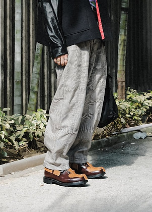 SUPER WIDE PANTS IN CHECKS