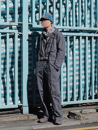 TWO-WAYS GARMENT DYED OVERALL