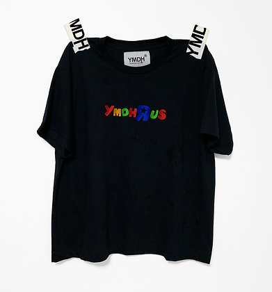 YMDH'R'US Embroidery Logo tee BLK