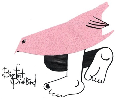 Bigfoot Pink Bird