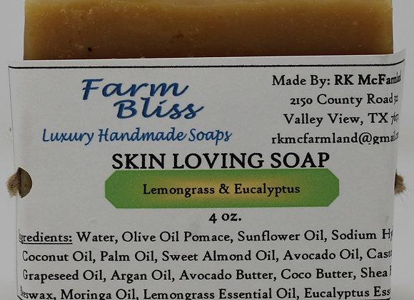 Lemongrass and Eucalyptus Skin Loving Soap