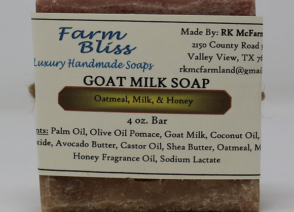 Oatmeal, Milk, and Honey Goat Milk Soap