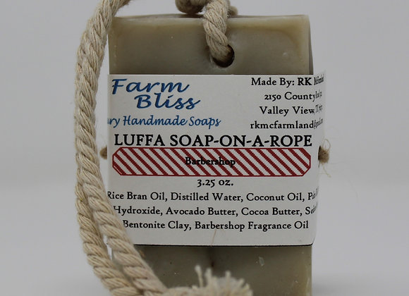 Barbershop Luffa Soap-on-a-Rope