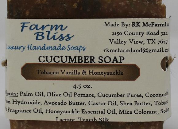 Tobacco Vanilla & Honeysuckle Cucumber Soap