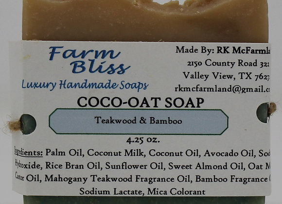 Teakwood and Bamboo Coco-Oat Soap