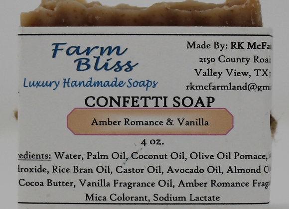 Amber Romance and Vanilla Confetti Soap