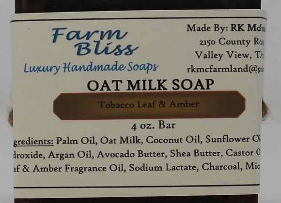 Tobacco Leaf and Amber Oat Milk Soap