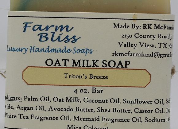 Triton's Breeze Oat Milk Soap