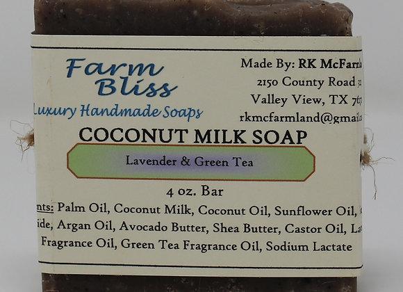 Lavender and Green Tea Coconut Milk Soap