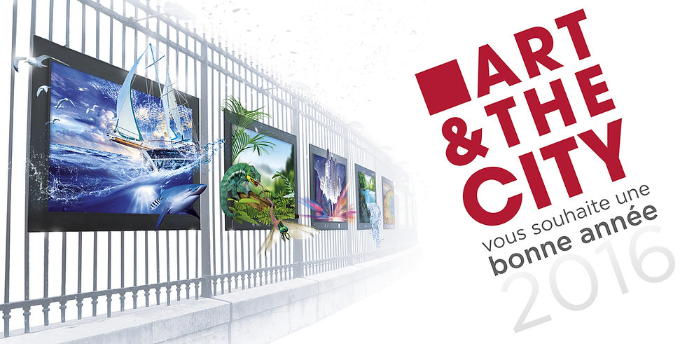 Exposition sur grilles au jardin du luxembourg, Paris