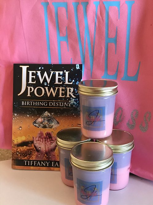 Jewel Power Book/Candle Bundle