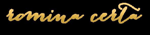 Logo Romina Certa Hochzeitslanung Design