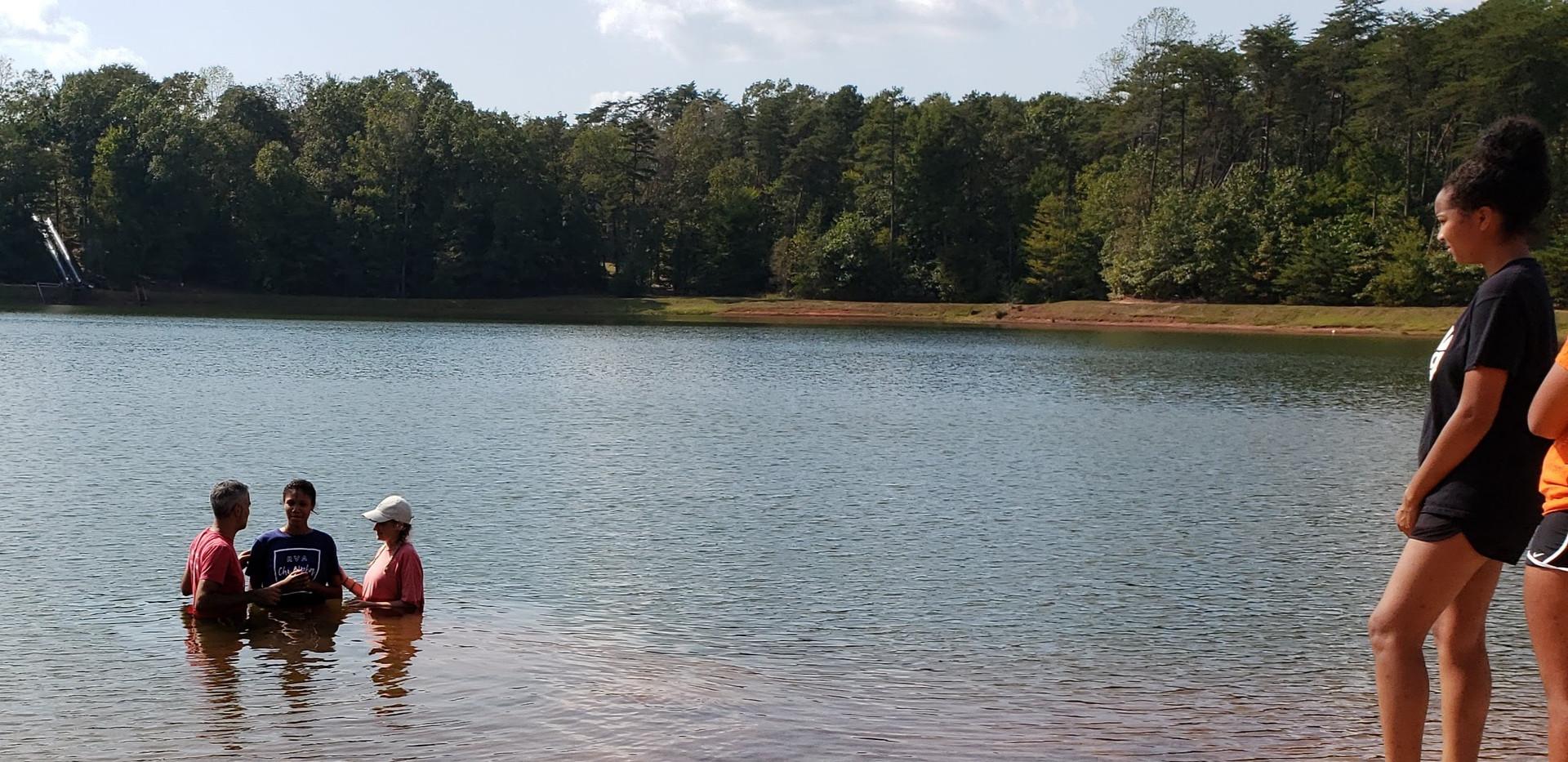 Baptisms at Fall Retreat