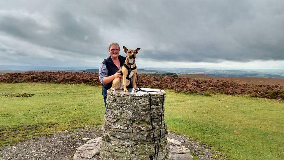 Nala and me Long Mynd 10 09 17