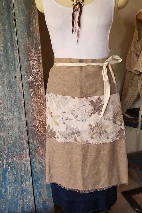 Linen Apron w/ Eco Dyed pocket #1