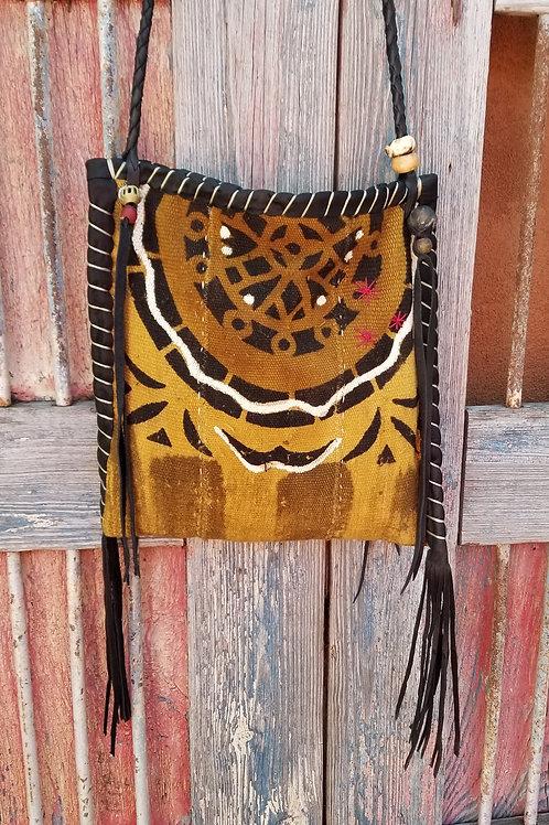 SAHAR Flat Bag Tri color Mud Cloth