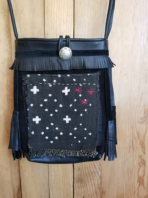 Collaboration bag Black Mud Cloth