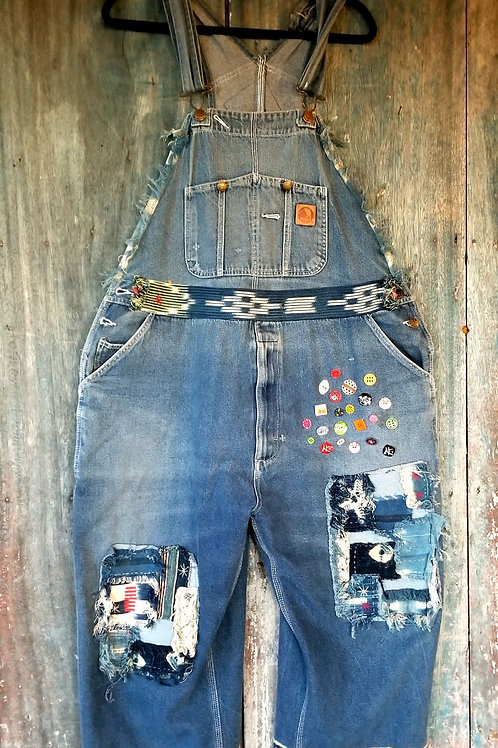 Vintage Overalls Mali indigo patchwork Carharts