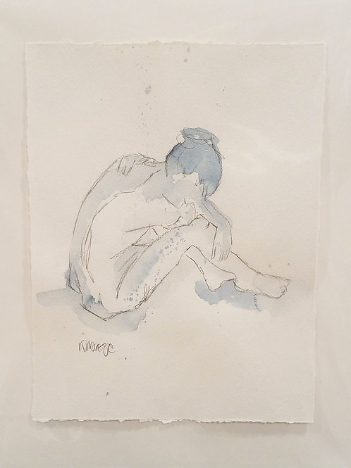 Seated Pose in Blue