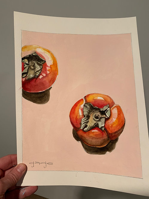 Persimmons on Paper