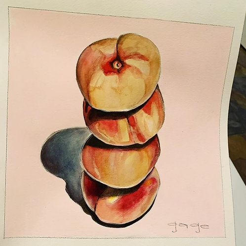 Peaches on Paper