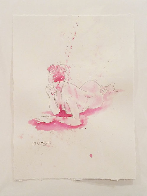 Reclining Pose in Pink