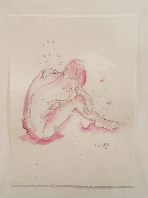 Seated Pose in Pink