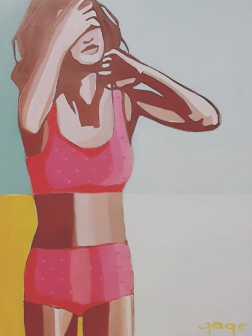 Pink Polka Dot Bikini