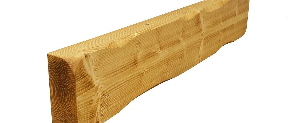 Solid Pine Floating Mantle (Rustic Edge)