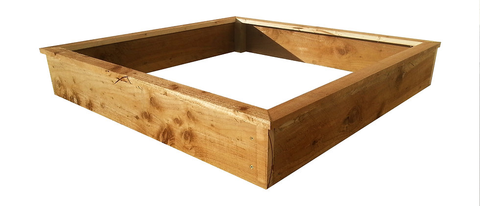 Square Rough Sawn Raised Beds