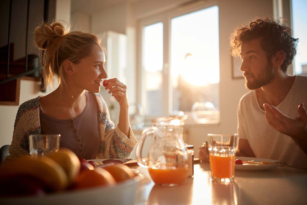 Companionship taking breakfast together couple | Dating with Fawn | Philadelphia, PA, USA