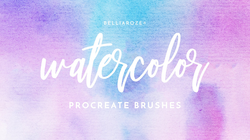 watercolor brushes, procreate brushes, realistic watercolor brush, real watercolor procreate brush, watercolor procreate