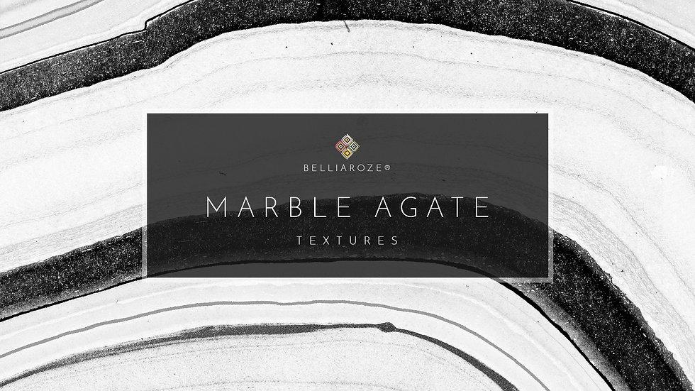 Marble Agate Textures Black & White