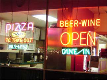 If the light is on were open for business at Compolas Tasty Pizza