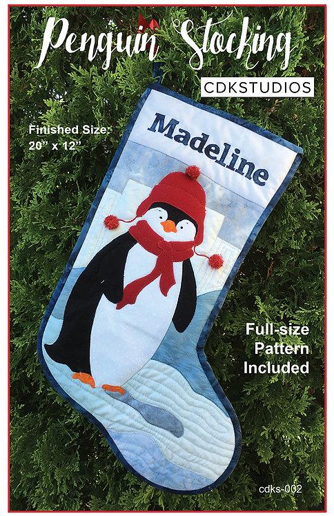 Penguin Stocking Digital Pattern