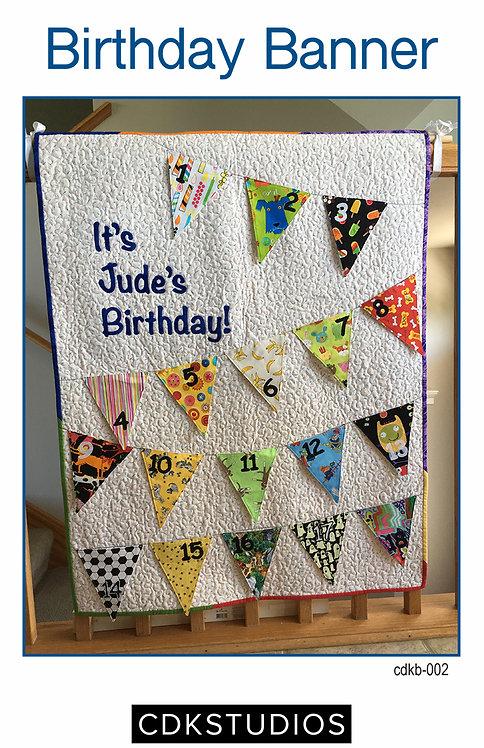 Birthday Banner Pattern - Flags