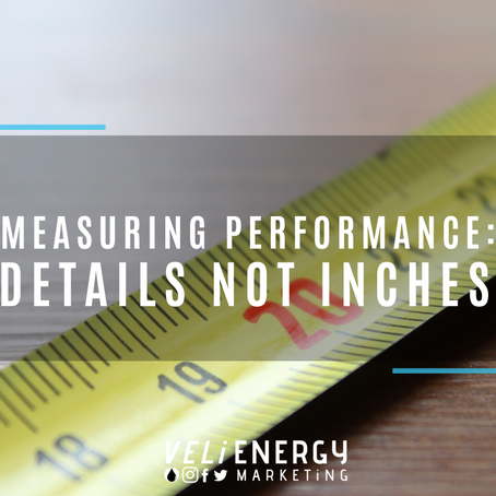 Measuring Performance : Details not Inches