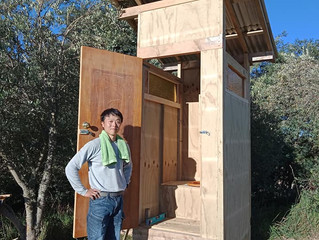 Here we have a long-planned compost toilet in the vineyard! 念願のコンポストトイレ!