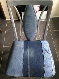 Denim dining room chair