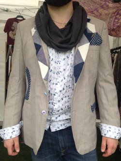 Unique men's jackets, upcycled ties