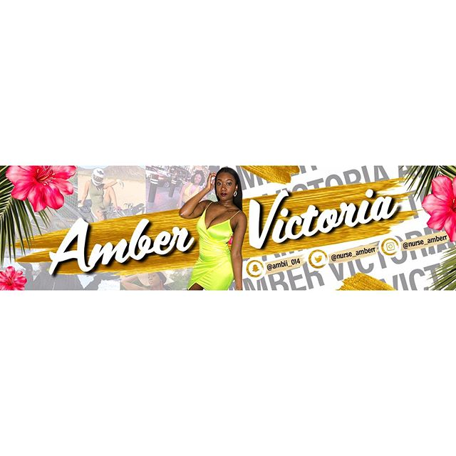 YouTube Banner Design for Amber Victoria