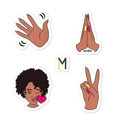 Peace & Love Hands Stickers