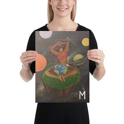 Galaxy Girl - 12x16 Canvas